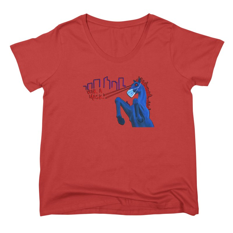 Blucifer Says Wear A Mask Women's Scoop Neck by That5280Lady's Shop