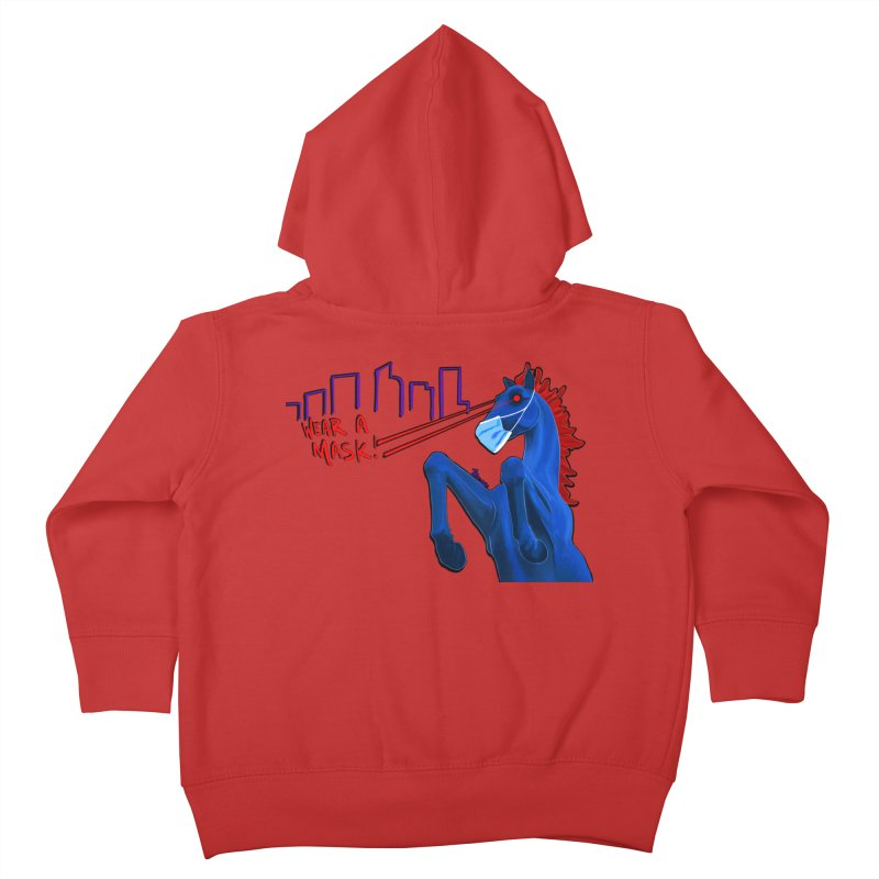 Blucifer Says Wear A Mask Kids Toddler Zip-Up Hoody by That5280Lady's Shop