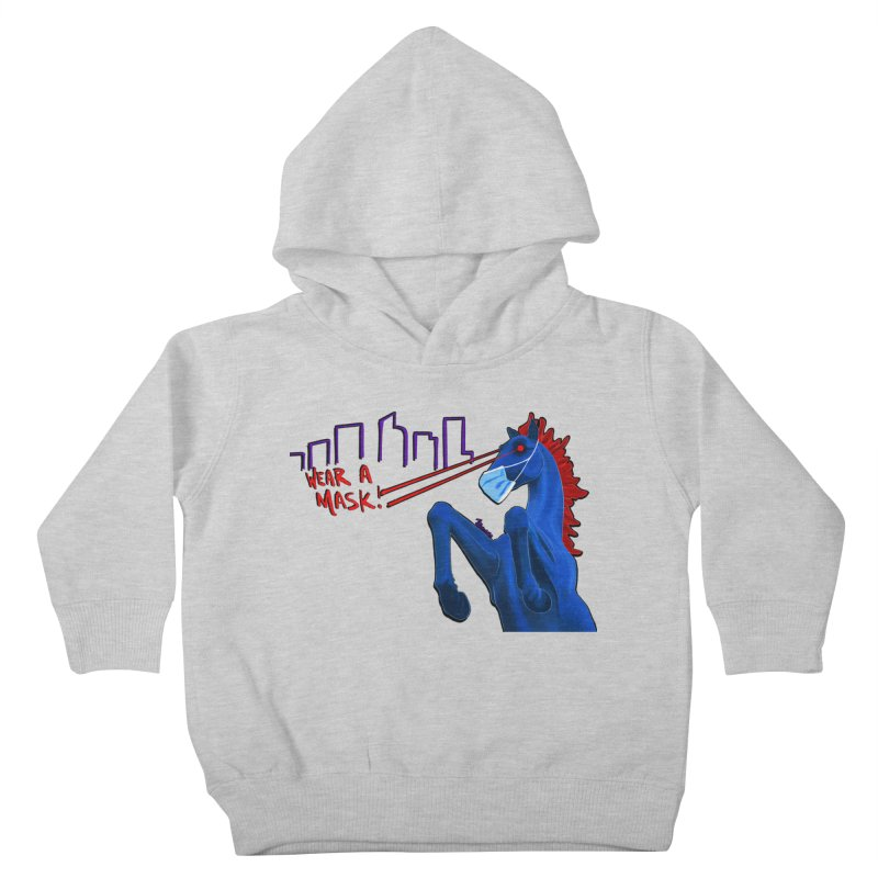 Blucifer Says Wear A Mask Kids Toddler Pullover Hoody by That5280Lady's Shop