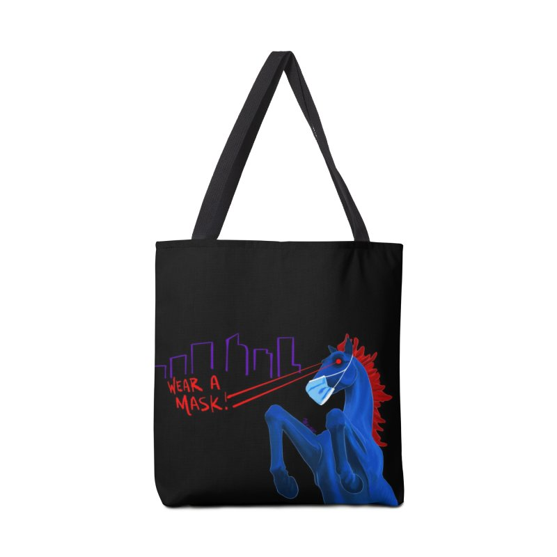 Blucifer Says Wear A Mask Accessories Bag by That5280Lady's Shop