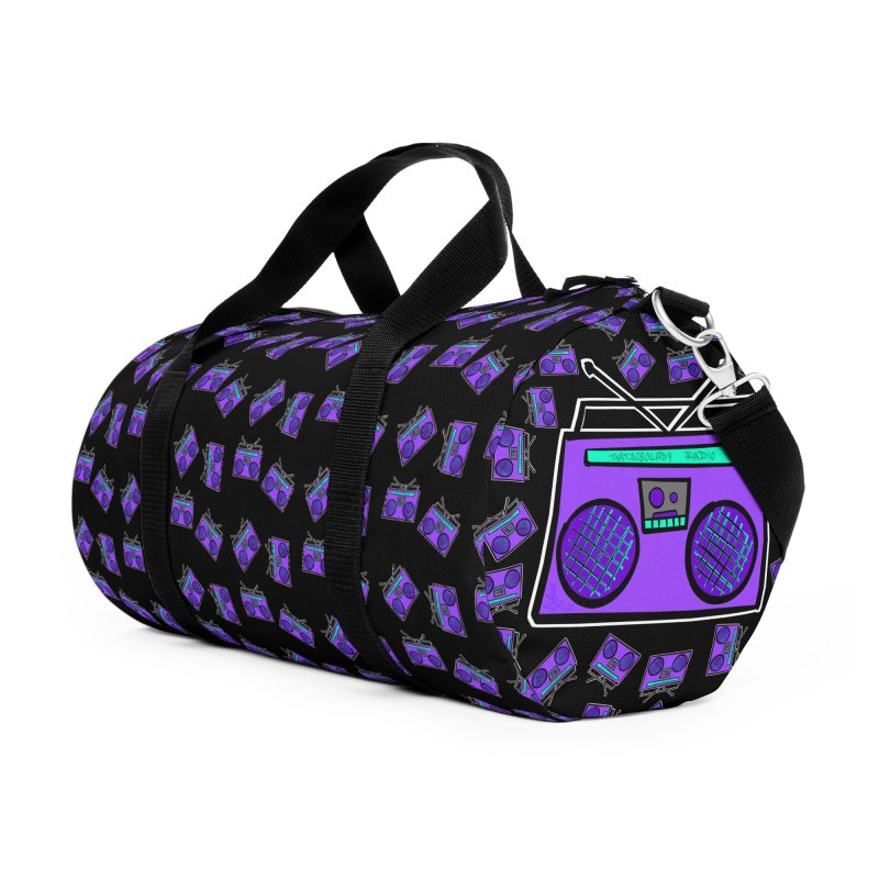 Purple Boombox Accessories Bag by That5280Lady's Shop