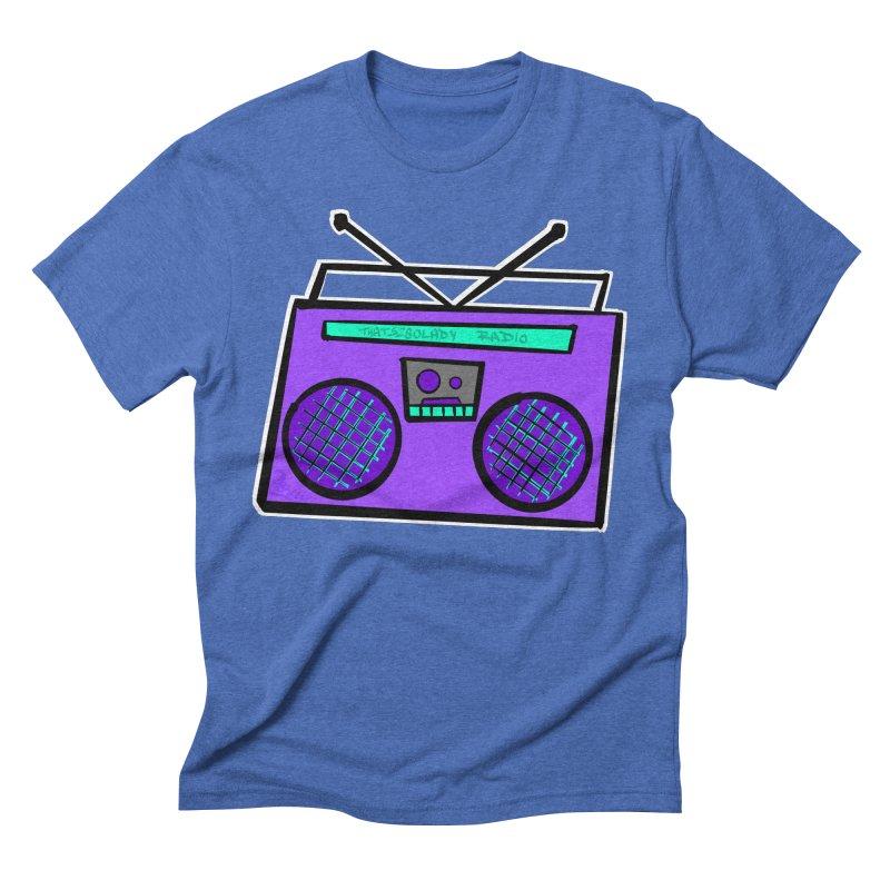 Purple Boombox Men's T-Shirt by That5280Lady's Shop
