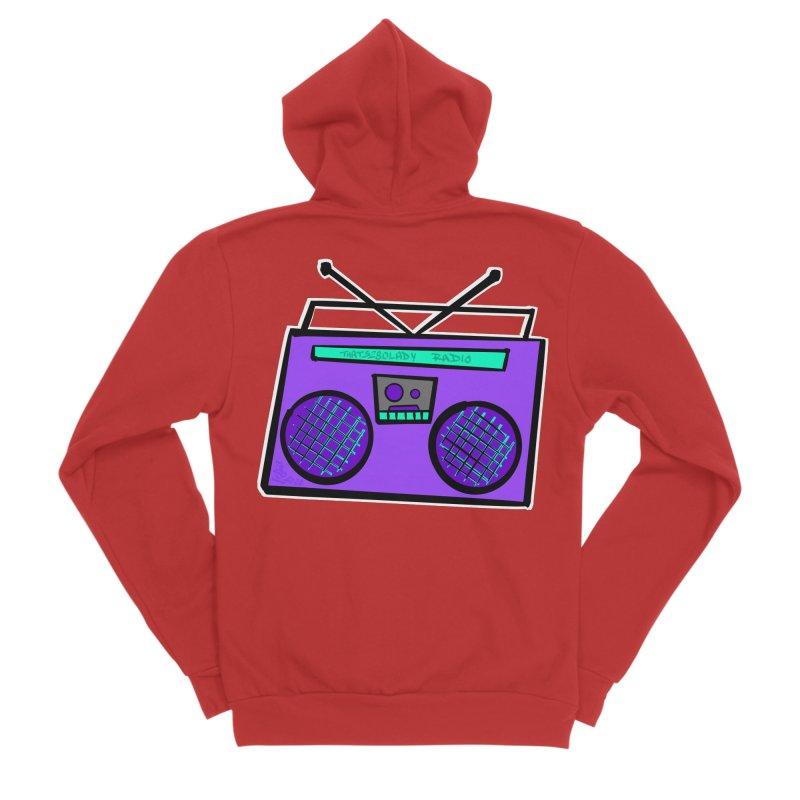 Purple Boombox Women's Zip-Up Hoody by That5280Lady's Shop