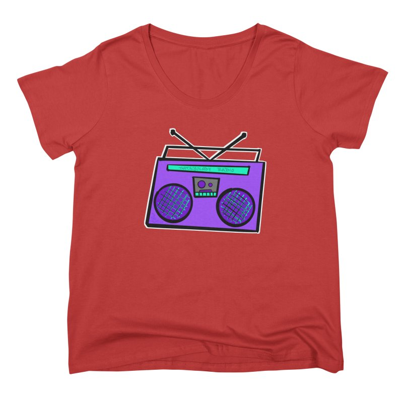 Purple Boombox Women's Scoop Neck by That5280Lady's Shop