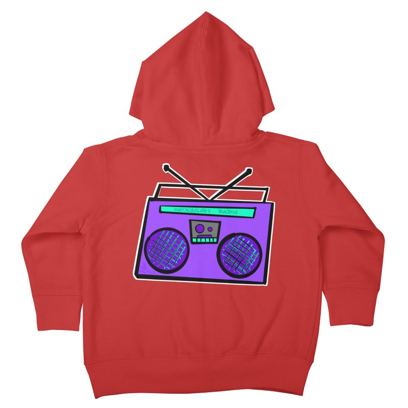 Purple Boombox Kids Toddler Zip-Up Hoody by That5280Lady's Shop
