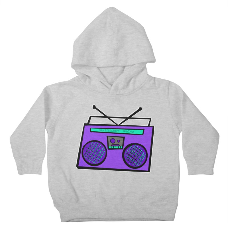 Purple Boombox Kids Toddler Pullover Hoody by That5280Lady's Shop