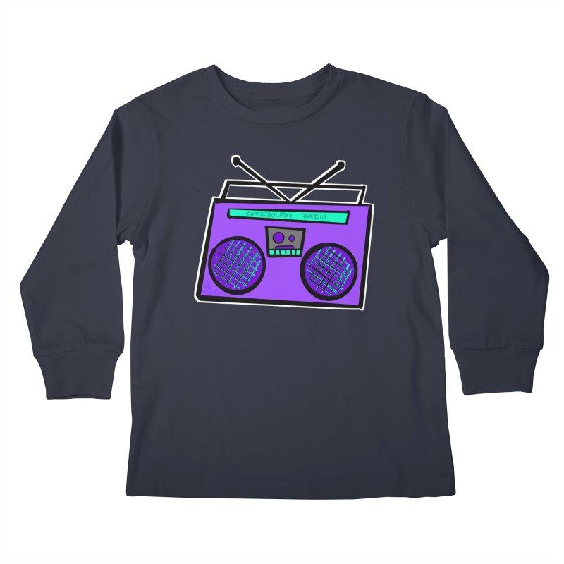 Purple Boombox Kids Longsleeve T-Shirt by That5280Lady's Shop