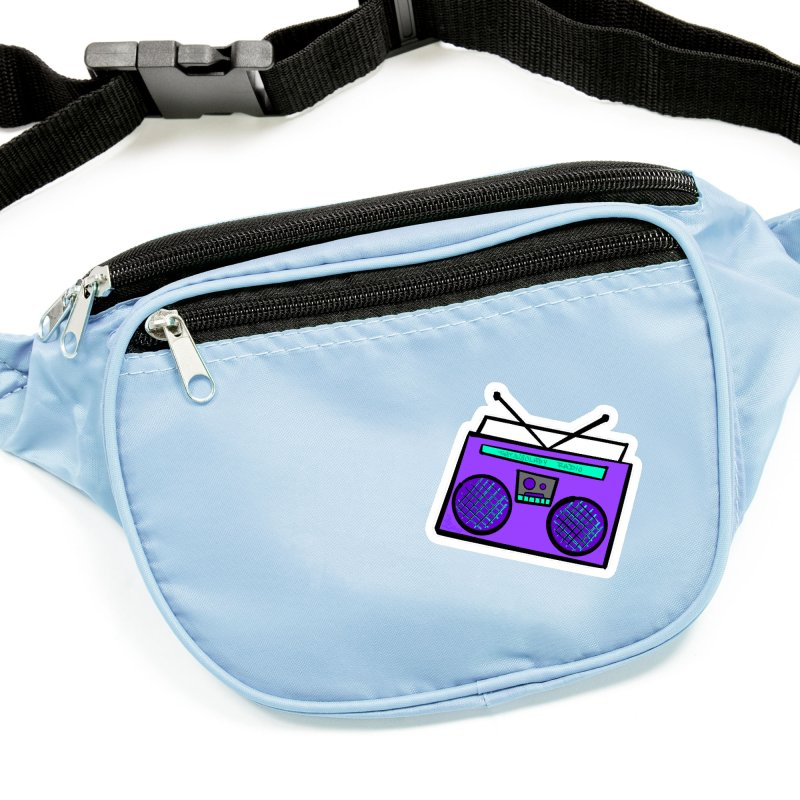 Purple Boombox Accessories Sticker by That5280Lady's Shop