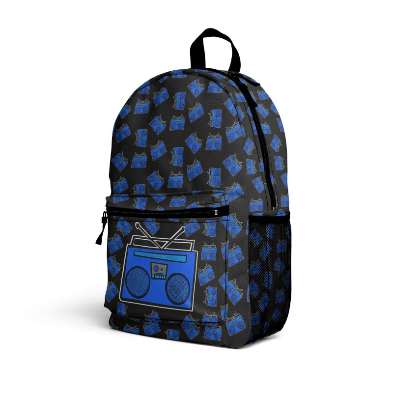 Blue Boombox Accessories Bag by That5280Lady's Shop