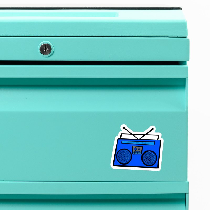 Blue Boombox Accessories Magnet by That5280Lady's Shop