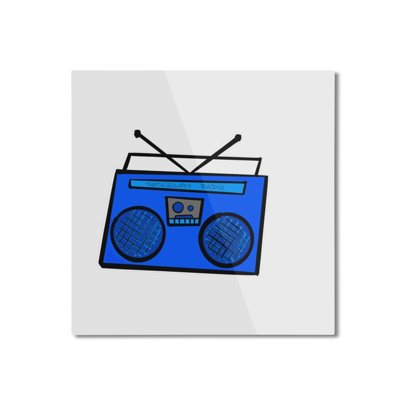 Blue Boombox Home Mounted Aluminum Print by That5280Lady's Shop
