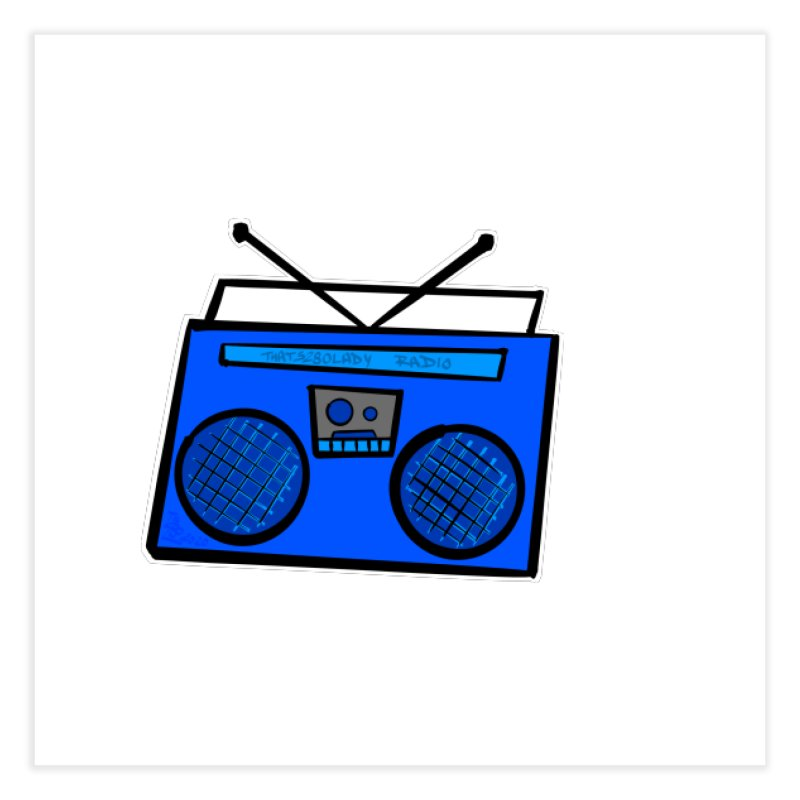 Blue Boombox Home Fine Art Print by That5280Lady's Shop