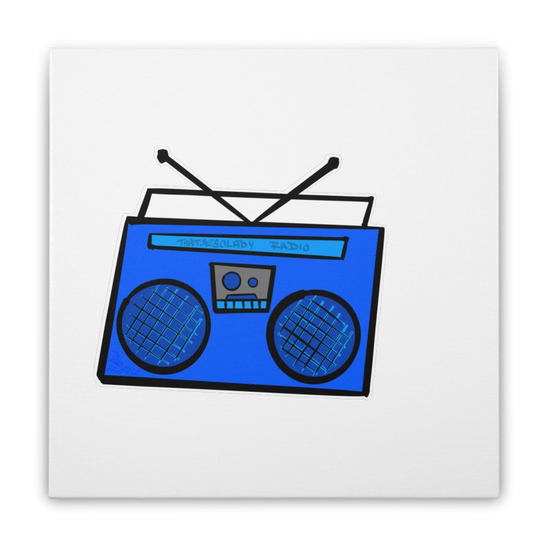 Blue Boombox Home Stretched Canvas by That5280Lady's Shop