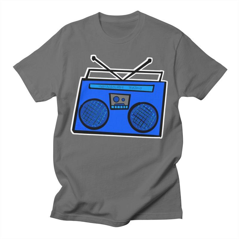 Blue Boombox Men's T-Shirt by That5280Lady's Shop