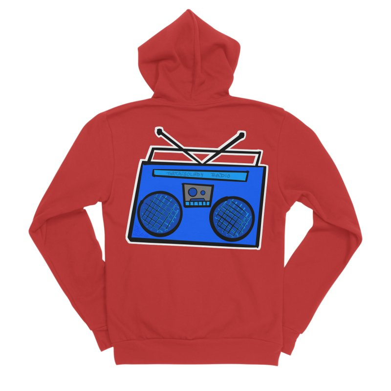 Blue Boombox Men's Zip-Up Hoody by That5280Lady's Shop