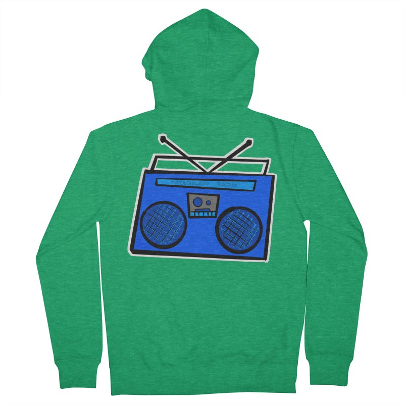 Blue Boombox Women's Zip-Up Hoody by That5280Lady's Shop
