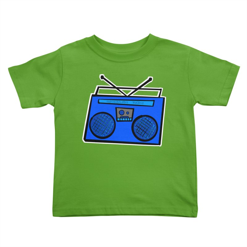 Blue Boombox Kids Toddler T-Shirt by That5280Lady's Shop