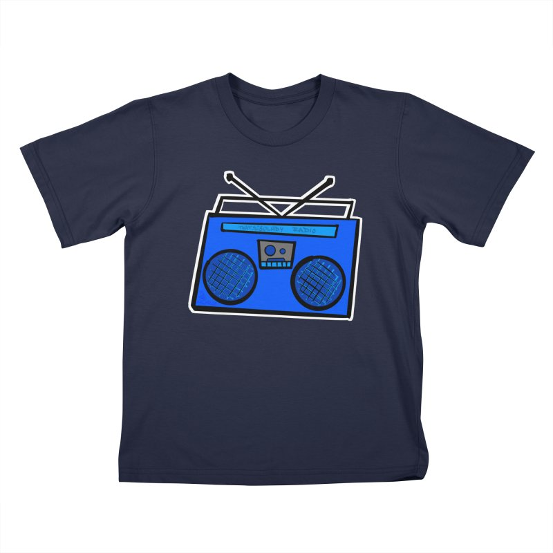 Blue Boombox Kids T-Shirt by That5280Lady's Shop