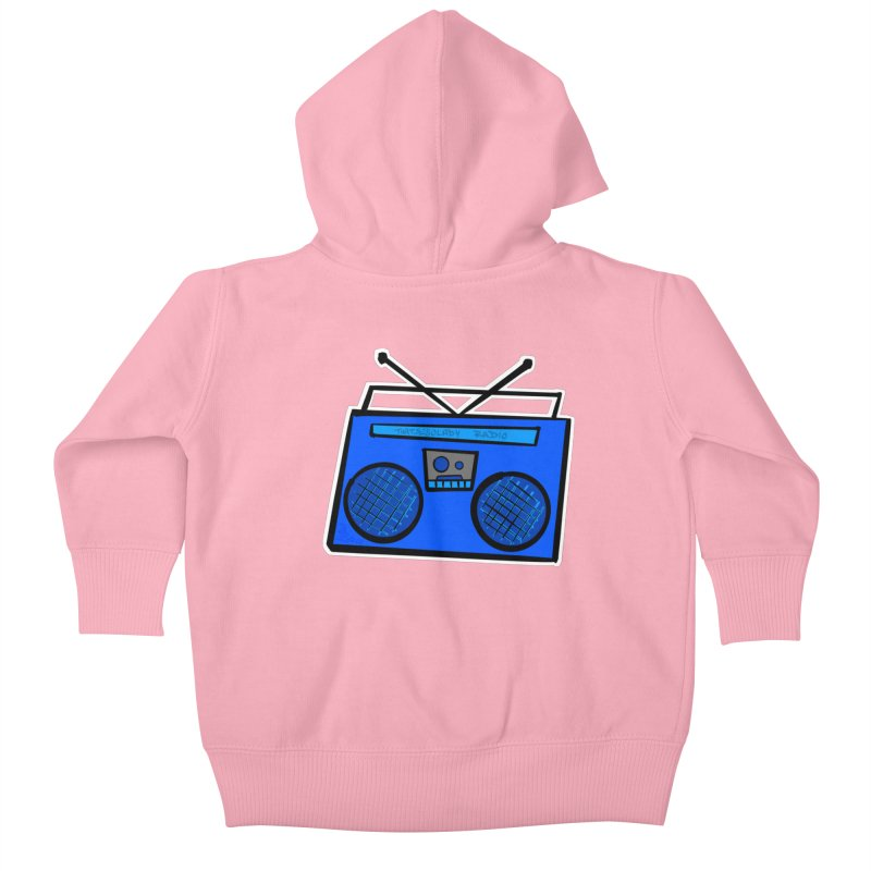 Blue Boombox Kids Baby Zip-Up Hoody by That5280Lady's Shop