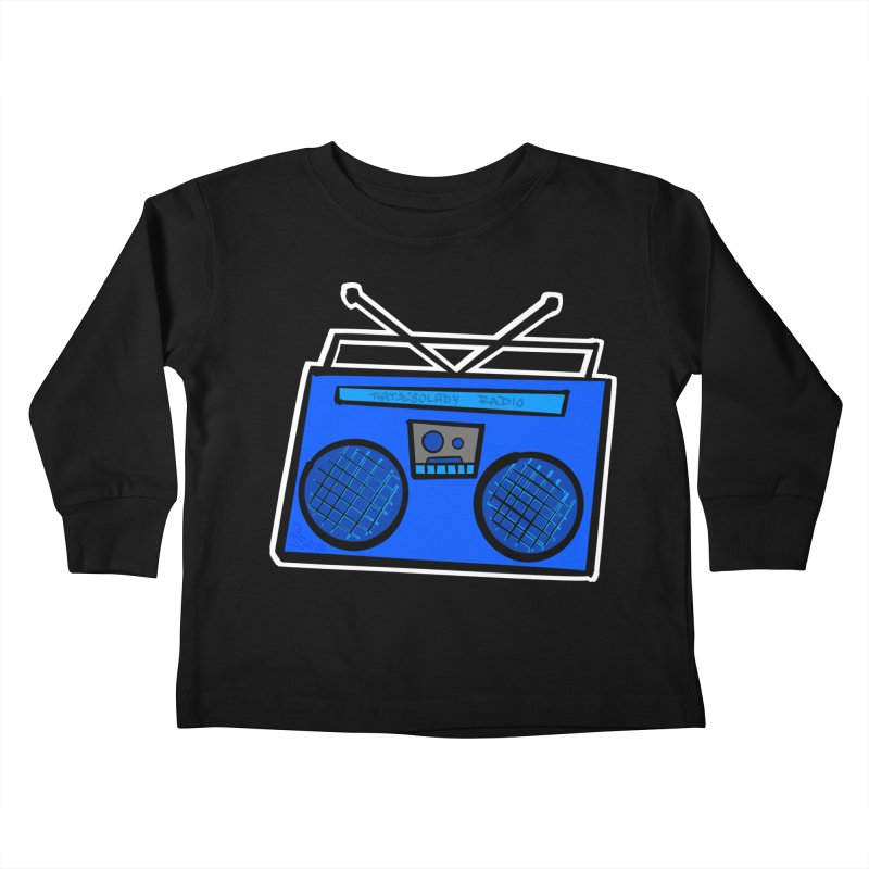 Blue Boombox Kids Toddler Longsleeve T-Shirt by That5280Lady's Shop