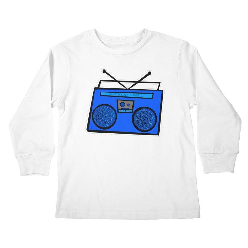 Blue Boombox Kids Longsleeve T-Shirt by That5280Lady's Shop