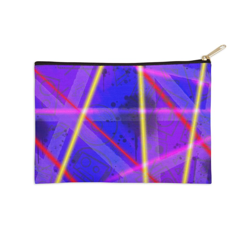 Neon Bots Accessories Zip Pouch by That5280Lady's Shop