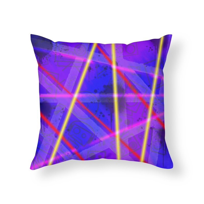 Neon Bots Home Throw Pillow by That5280Lady's Shop