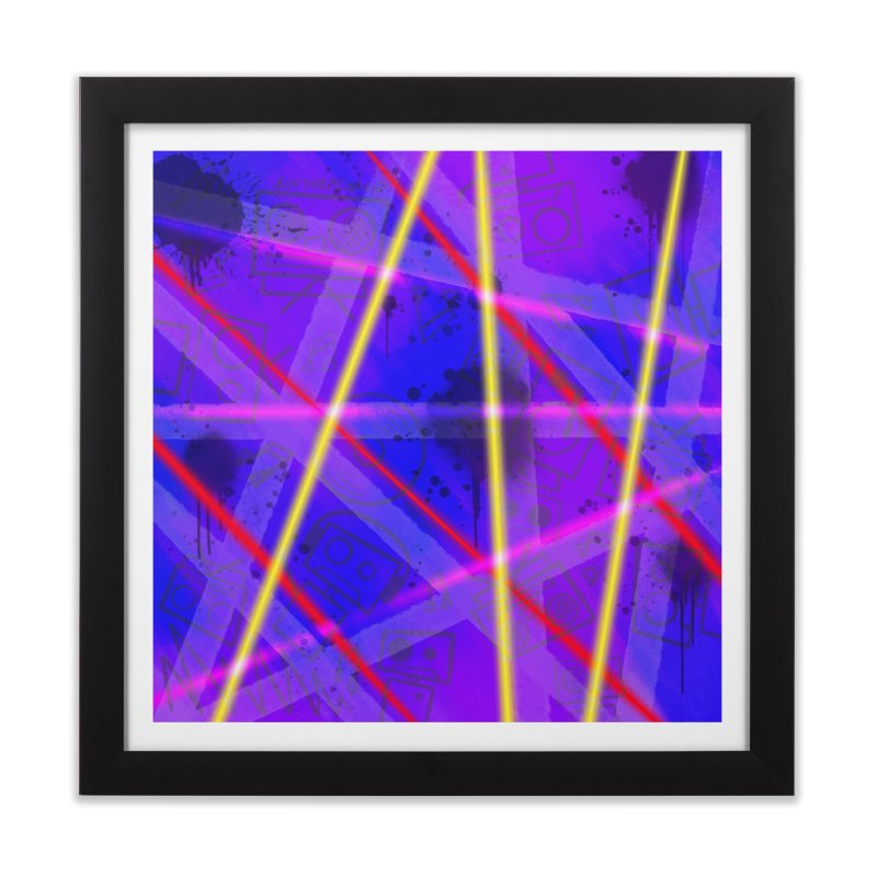 Neon Bots Home Framed Fine Art Print by That5280Lady's Shop