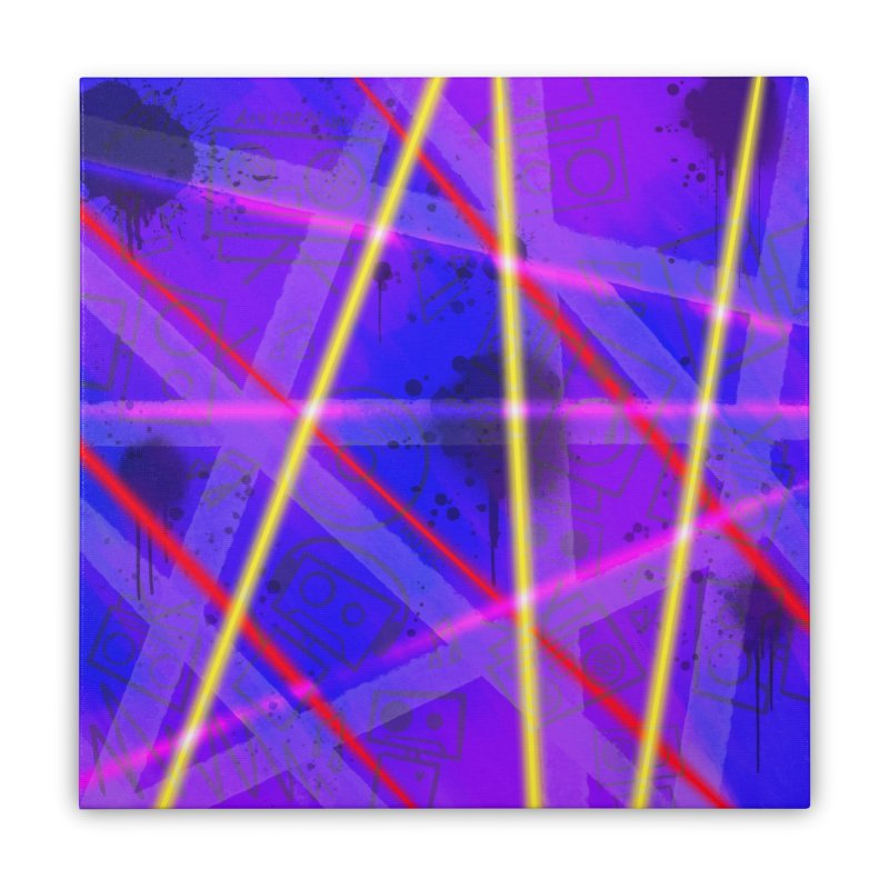 Neon Bots Home Stretched Canvas by That5280Lady's Shop