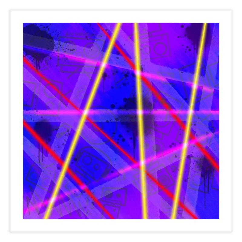 Neon Bots Home Fine Art Print by That5280Lady's Shop