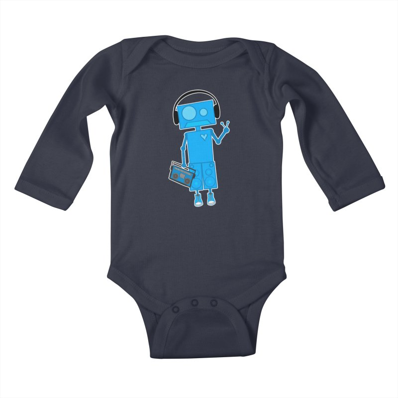 Boombot Just Chillin Kids Baby Longsleeve Bodysuit by That5280Lady's Shop