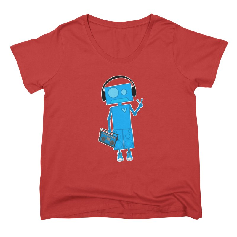 Boombot Just Chillin Women's Scoop Neck by That5280Lady's Shop
