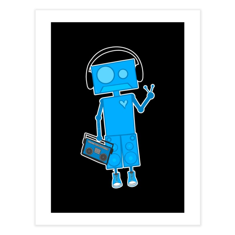 Boombot Just Chillin Home Fine Art Print by That5280Lady's Shop