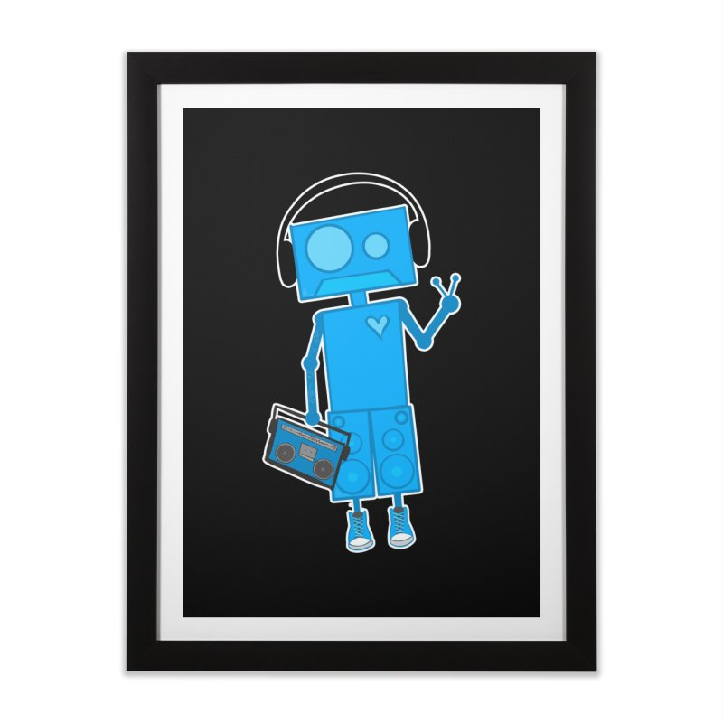Boombot Just Chillin Home Framed Fine Art Print by That5280Lady's Shop