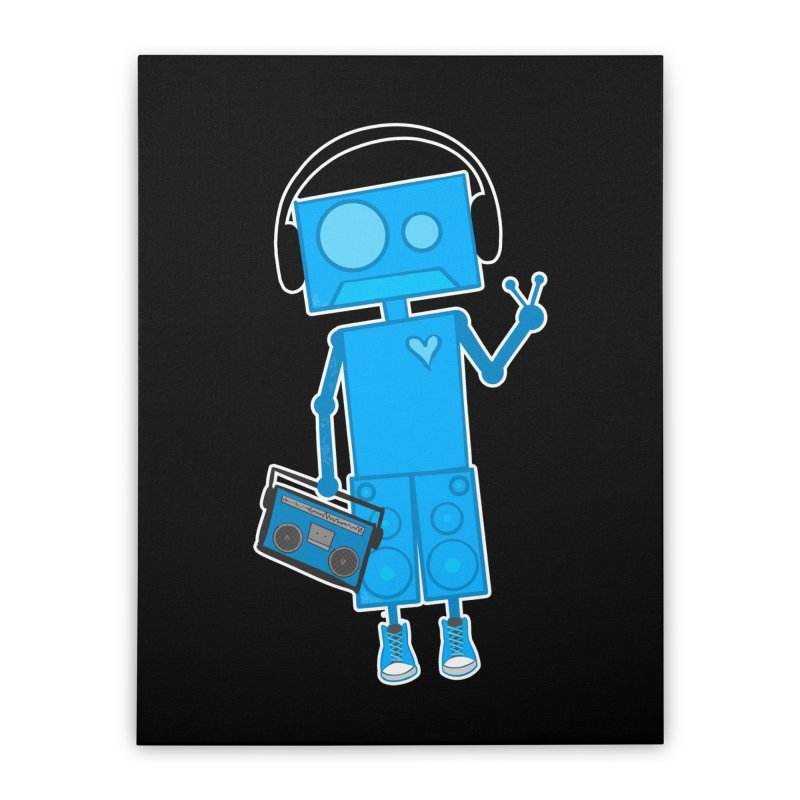 Boombot Just Chillin Home Stretched Canvas by That5280Lady's Shop