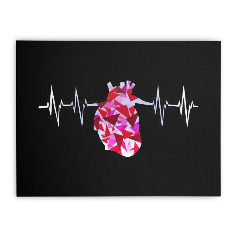 Heart Beats Home Stretched Canvas by That5280Lady's Shop