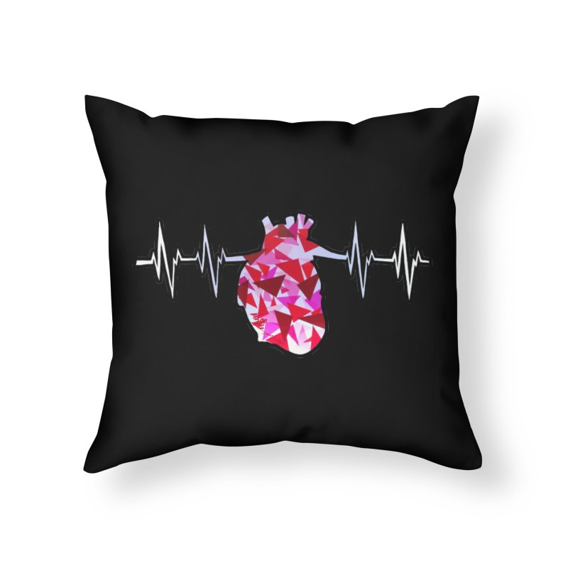 Heart Beats Home Throw Pillow by That5280Lady's Shop