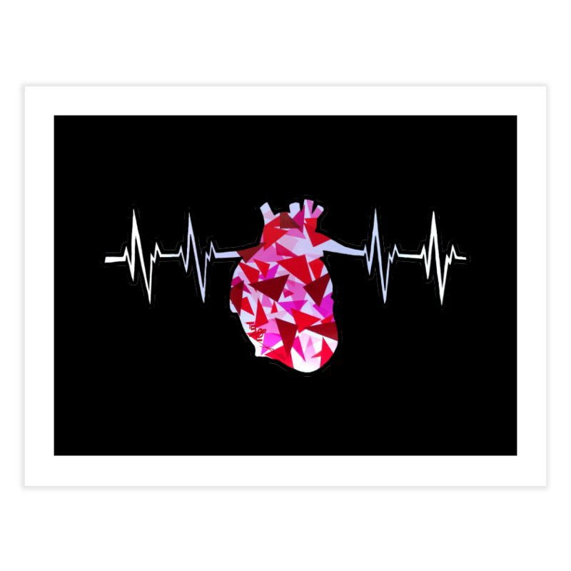 Heart Beats Home Fine Art Print by That5280Lady's Shop