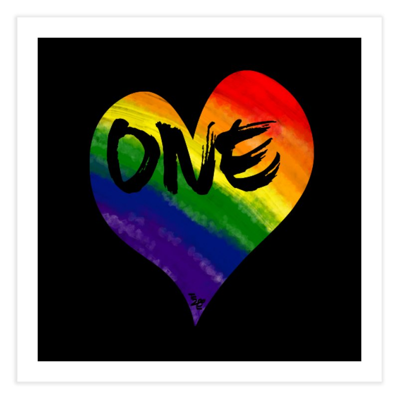 One Love Home Fine Art Print by That5280Lady's Shop