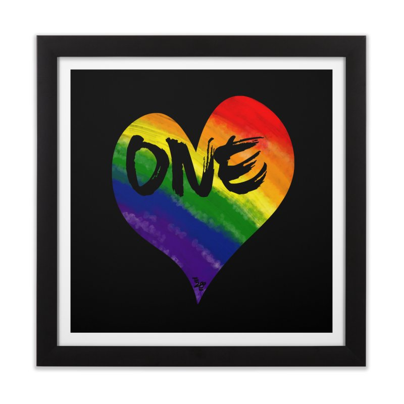One Love Home Framed Fine Art Print by That5280Lady's Shop
