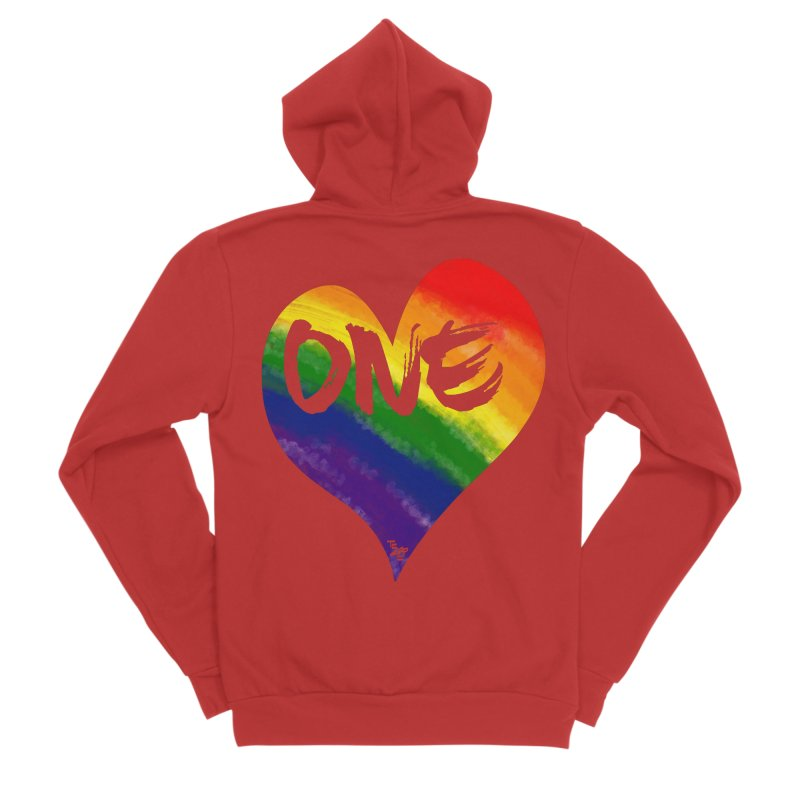 One Love Men's Zip-Up Hoody by That5280Lady's Shop