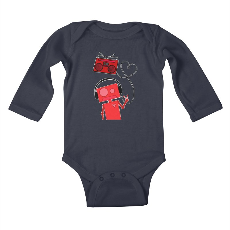 Love Songs Kids Baby Longsleeve Bodysuit by That5280Lady's Shop