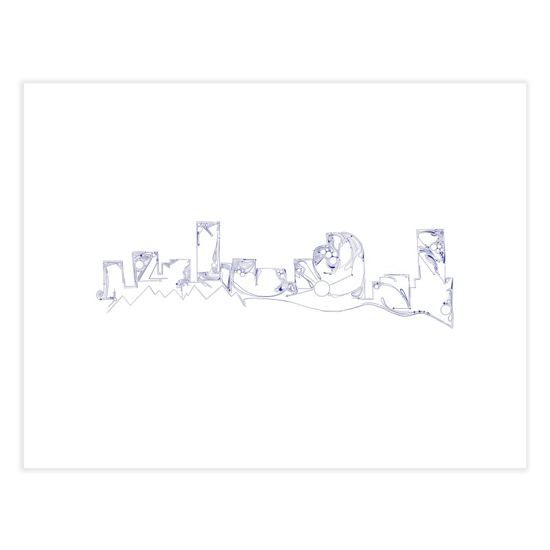 Denver Skyline Abstract Home Fine Art Print by That5280Lady's Shop
