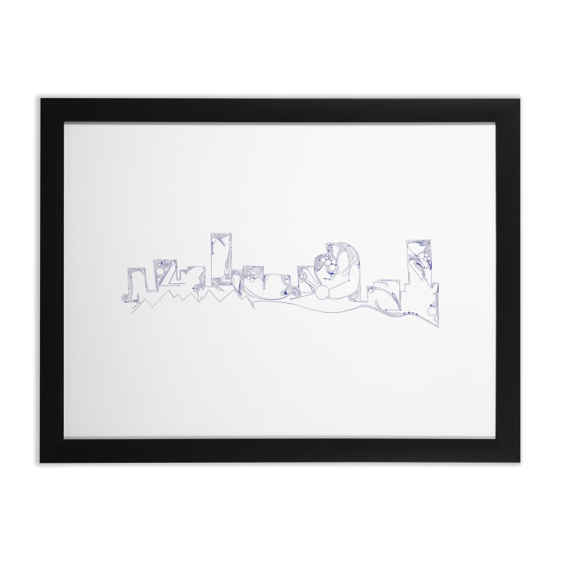 Denver Skyline Abstract Home Framed Fine Art Print by That5280Lady's Shop