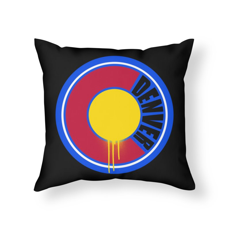 That Denver Colorado Drip Home Throw Pillow by That5280Lady's Shop