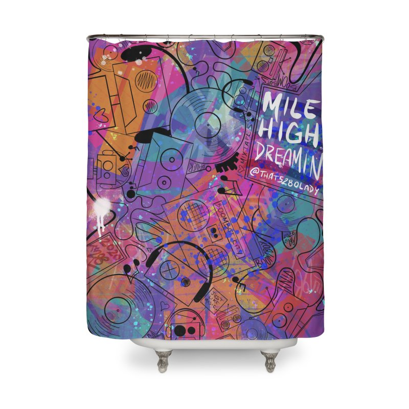Mile High Dreamin Home Shower Curtain by That5280Lady's Shop