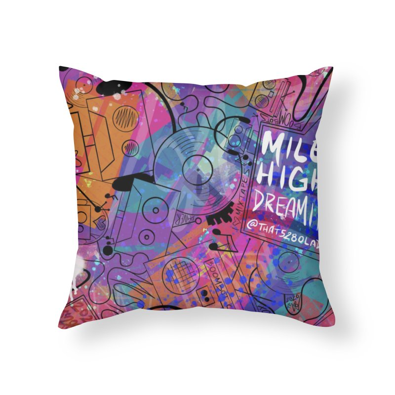 Mile High Dreamin Home Throw Pillow by That5280Lady's Shop