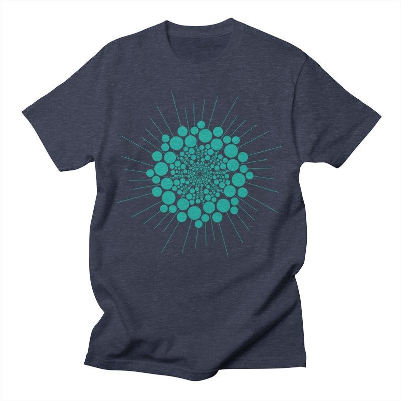 Teal Bubble Sun Men's T-Shirt by That5280Lady's Shop
