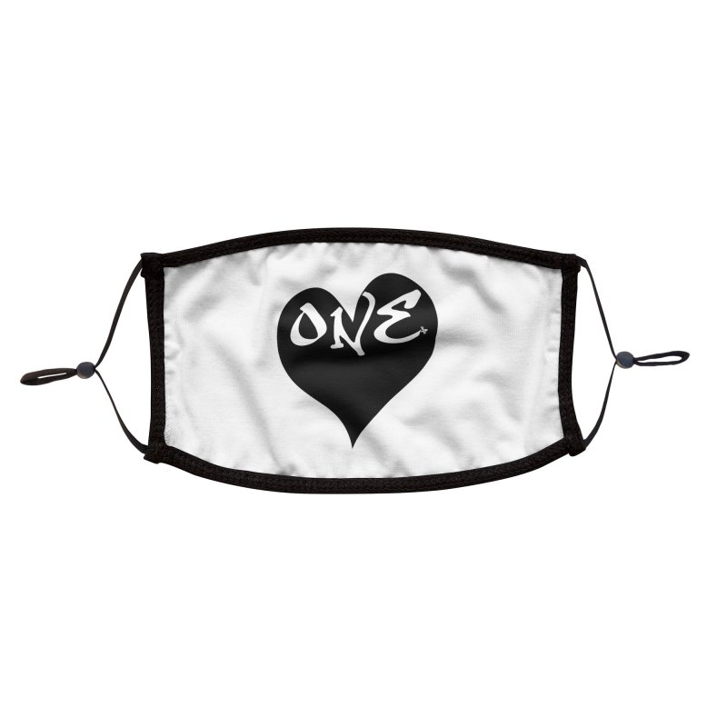 One Love - OG Black Heart Accessories Face Mask by That5280Lady's Shop