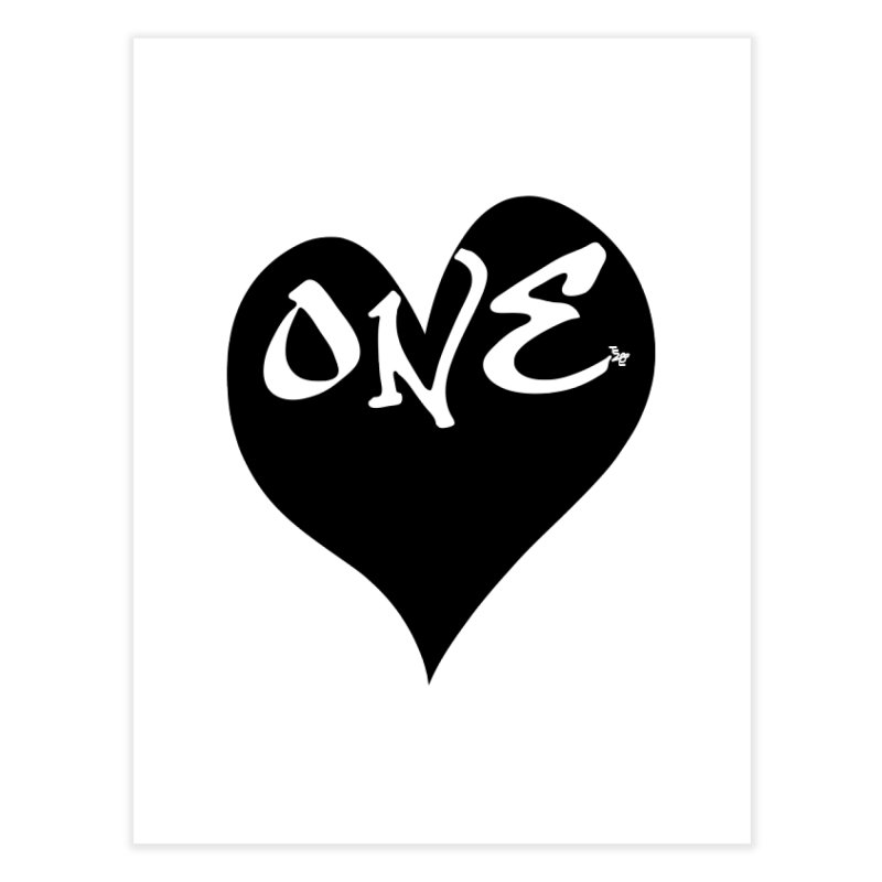 One Love - OG Black Heart Home Fine Art Print by That5280Lady's Shop